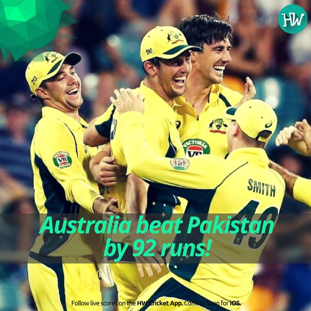 Australia got off to a shaky start but they were too powerful for Pakistan! #AUSvPAK #cricket