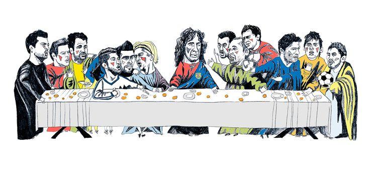Real vs Barça, final da Copa do Rei - http://colecaodecamisas.com/real-vs-barca-final-da-copa-rei-2014/ #colecaodecamisas #Barcelona, #Copadorei2014, #Realmadrid, #Theillustratedgame