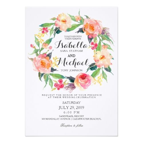 17 best ideas about floral wedding invitations on pinterest, Wedding invitations