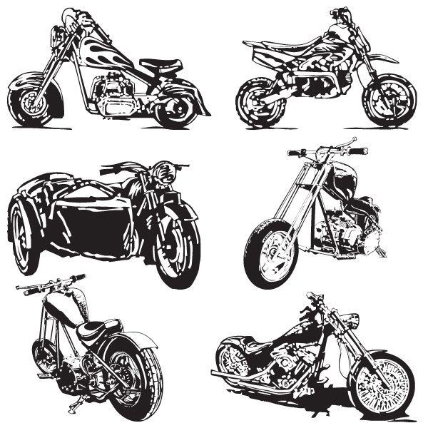 250 vectores con siluetas formas y accesorios de motos for Disenos de motos