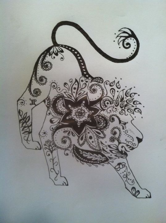 Mehndi Lion Tattoo : Henna lion tattoo ideas pinterest
