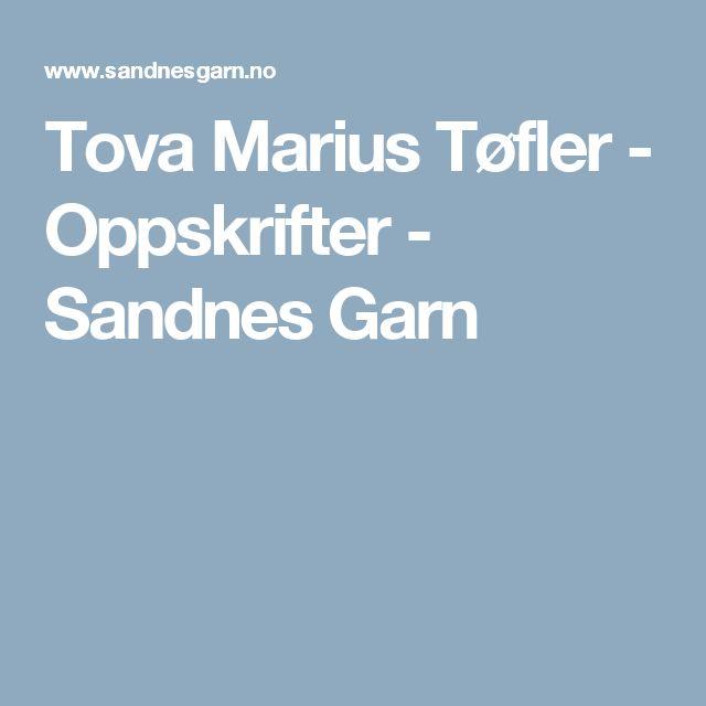 Tova Marius Tøfler - Oppskrifter - Sandnes Garn