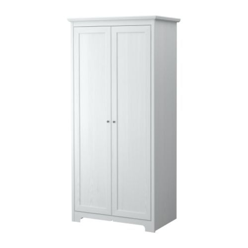 ASPELUND Wardrobe with 2 doors IKEA Adjustable hinges ensure that the doors hang straight.