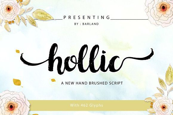 Hollic Brush by Barland on @creativemarket