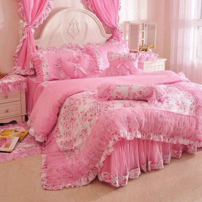 Pink Bedroom Sets For Girls 587 best cubrelechos images on pinterest | curtains, bed covers