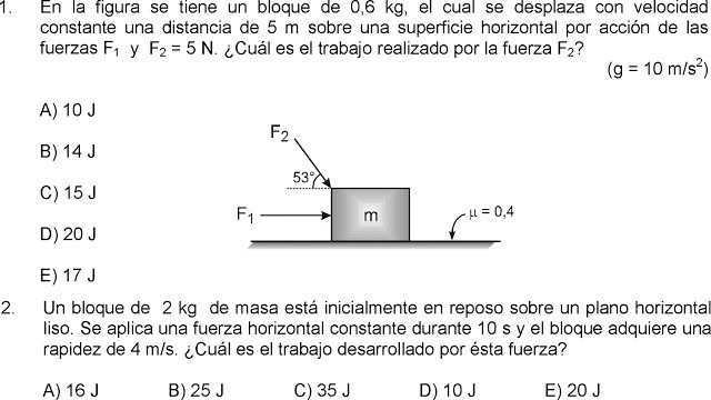 TRABAJO MECÁNICO 8 PROBLEMAS RESUELTOS - TUTORIAL - FÍSICA