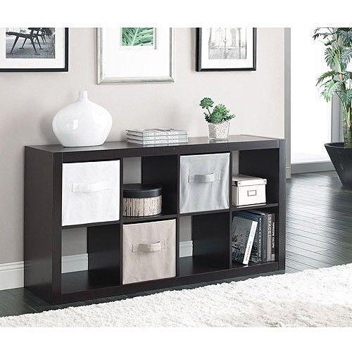 Organizer 8 Cube Storage Unit Bookcase Horizontal Vertical Dorm Living Room T.V. #BetterHomesandGardens