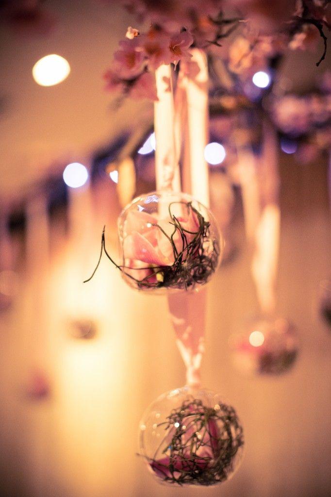 Bells N Whistles Event Wedding Clarita & Tony - Glass floral hanging arrangments