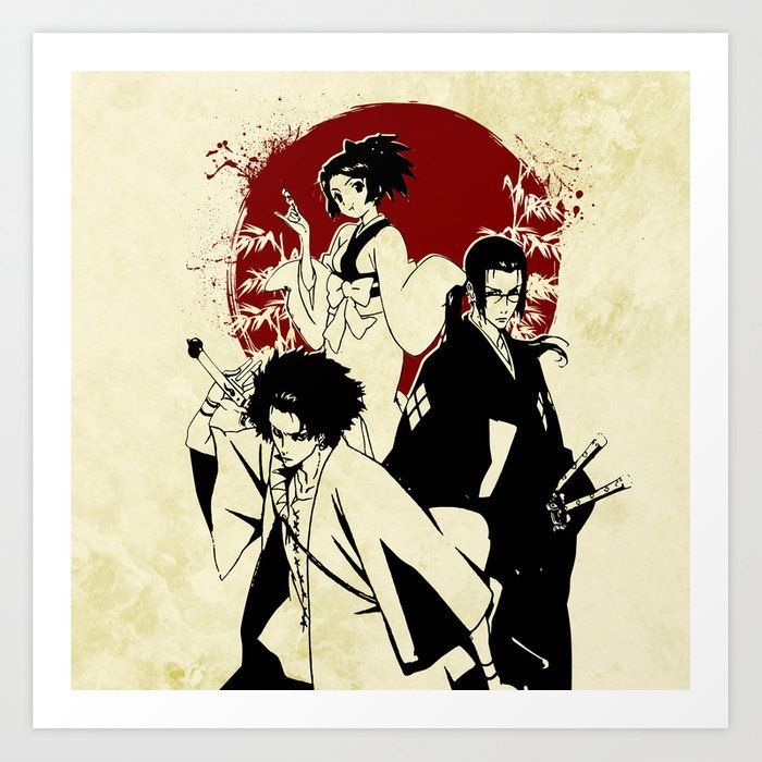 Samurai Champloo Art Print By Fujieros X Small Samurai Champloo Metal Art Prints Samurai