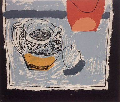 """Rosemary Vanns - """"Spotted Jug"""",  Screenprint Image Size 33.5cm x 29cm, Edition edition of 13"""