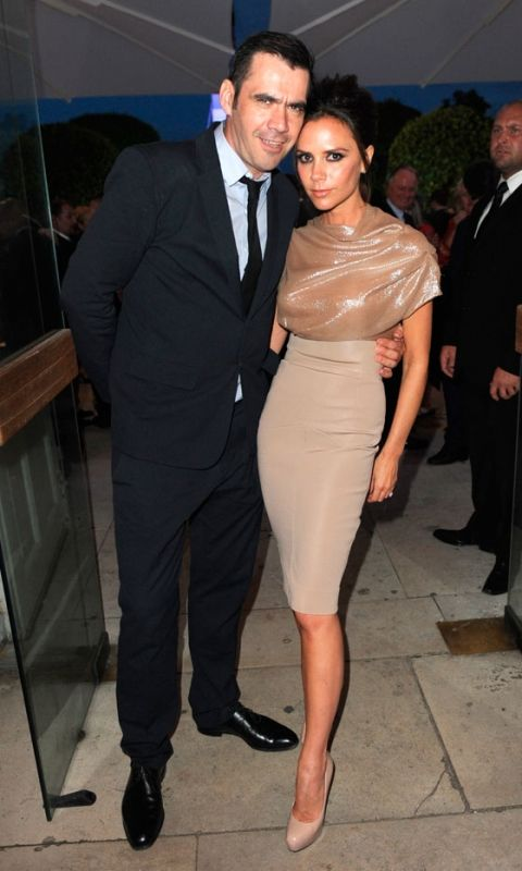 Victoria Beckham Ups The Glam Factor In A Dress From Her Own Collection At Fashion's Night Out In New York, September 2010