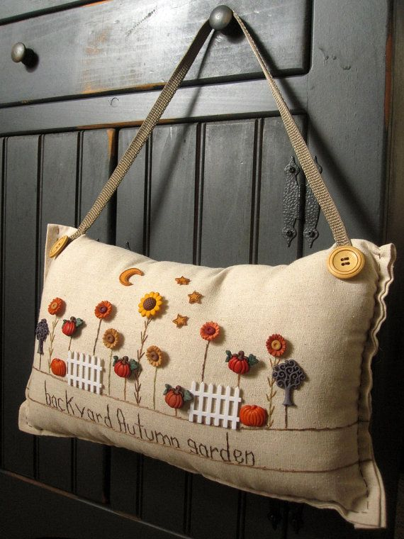Hanging Pillow Backyard Autumn Garden Cottage by PillowCottage, $27.00