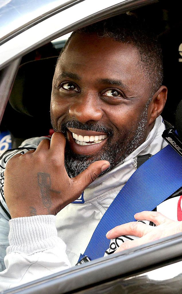 Sexy Driver from Idris Elba's Sexiest Looks  Idris Elba arrives at a time check after accident damage to his Ford Fiesta during the 2015 ERC FIA European Rally Championship.