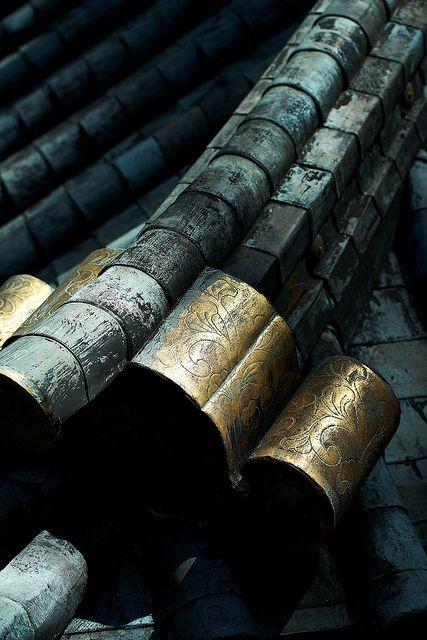 Roof details of Nikko Toshogu shrine, Japan
