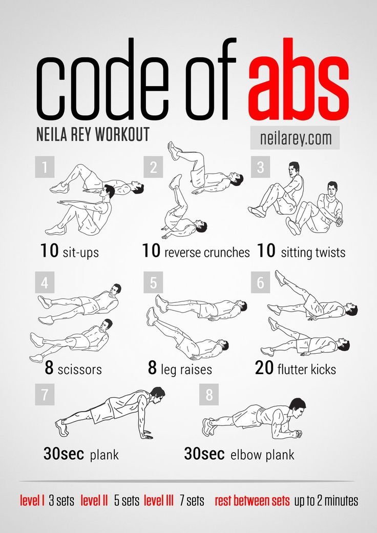 Code of Abs Workout. Great workout with a timer to map your progress. Remember that technique is more important than time when doing any Ab workout.