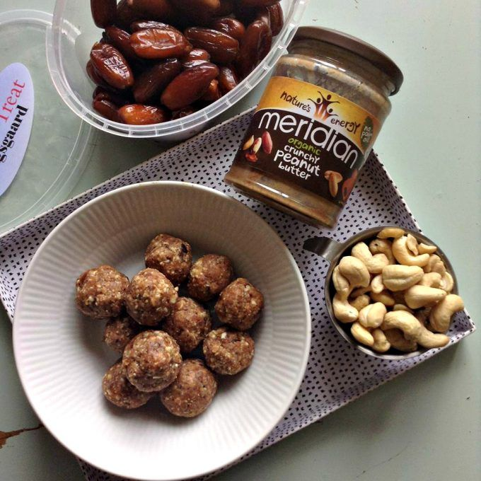 cashew kugler - snacks til madpakke
