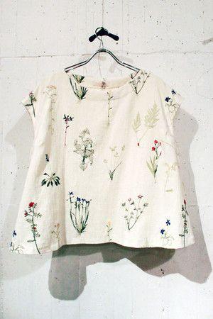 everlasting sprout ボタニカル刺繍プルオーバー sumally.com