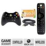 Microsoft GTA-00120 Xbox 360 Accessory Bundle - Xbox 360 Wireless Controller, Xbox 360 Media Remote, Xbox 360 High Speed HDMI Cable, 3 Month Xbox LIVE Gold Membership $59.99