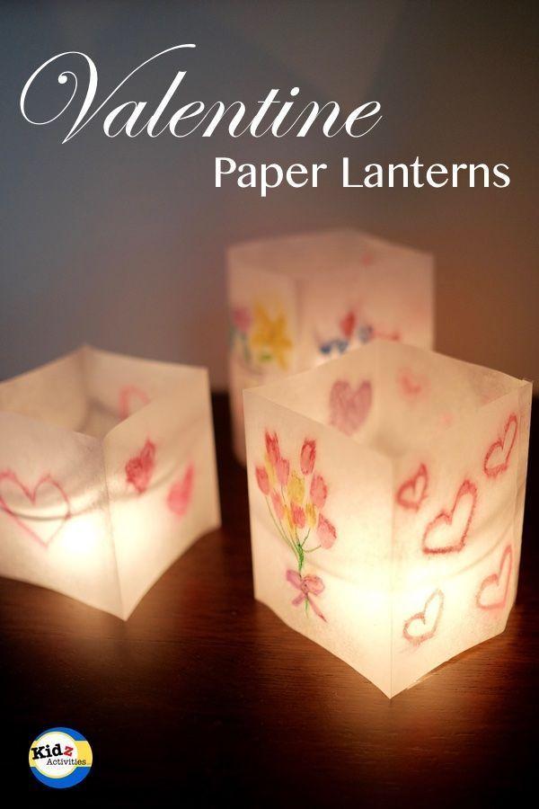 Valentine Paper Lanterns - Kidz Activities