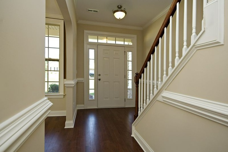 Rivera Floorplan: Foyer with Dinign Foom to the left of the entrance-way Royal Oaks Homes www.royaloakshomes.com