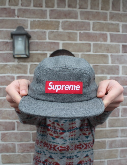 Supreme is known for their 5 paneled camp caps for skaters and anyone who wears hats