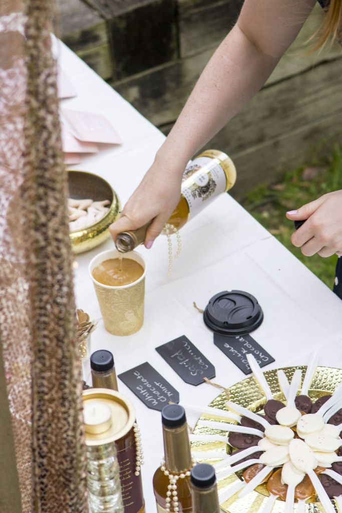 15 hacks for a coffee themed bridal shower (that's beautiful, in a backyard and on a budget)