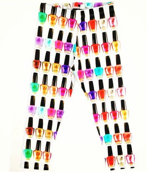 Zara Terez Leggingz Tween Girls Nail Polish Leggings Pants