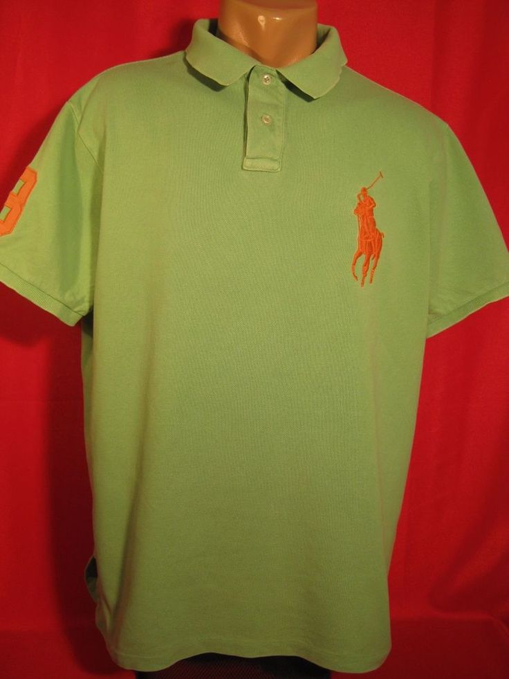 Authentic Ralph Lauren Men's Polo Shirt Size: XL XLarge Green  #RalphLauren #PoloRugby