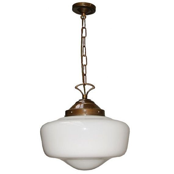 1920u0027s Schoolhouse Art Deco Traditional Pendant Light