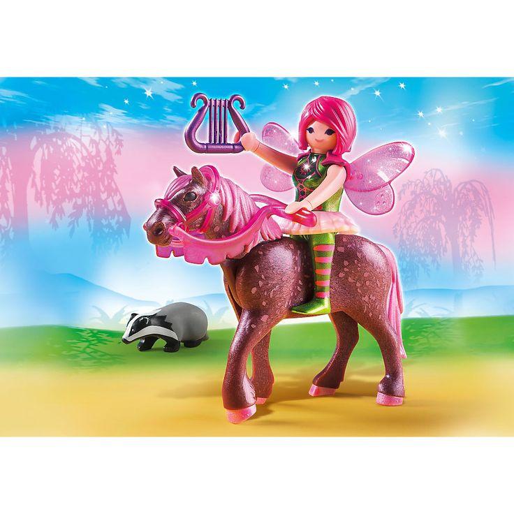 Playmobil Wróżki Wrózka leśna Surya z koniem wieczornej zorzy, 5449, klocki