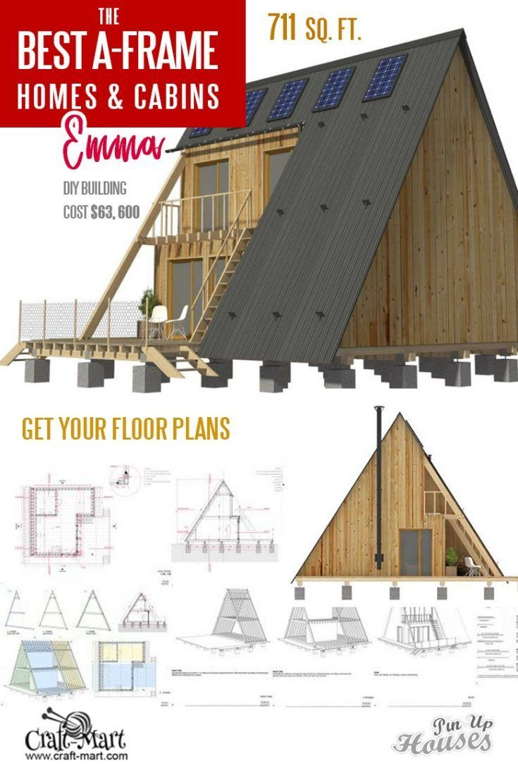 Cool A Frame Tiny House Plans Plus Tiny Cabins And Sheds In 2020 A Frame House Tiny House Plans House Plans