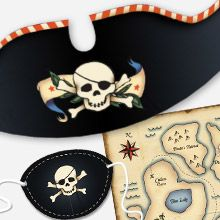 Snapfish has a bunch of themed printables--free. pirates, mother's day, bday, etc. Party Kits | Free Party Kits | Print at Home | Printables | Snapfish