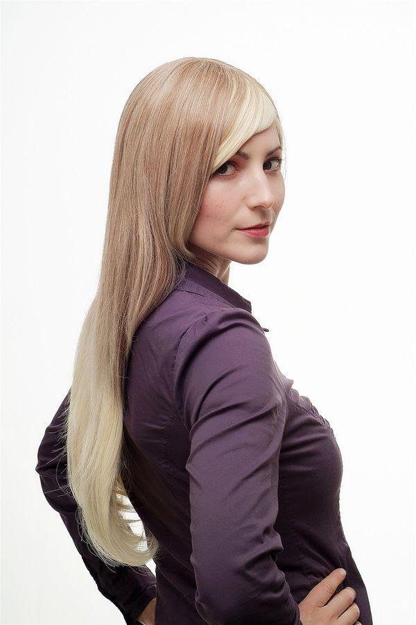 Sexy Peluca de Mujer Ombre Pelo Rubio Oscuro Platino Mix Largo Liso SA062  Mujer Ombre Pelo 765c444953cf
