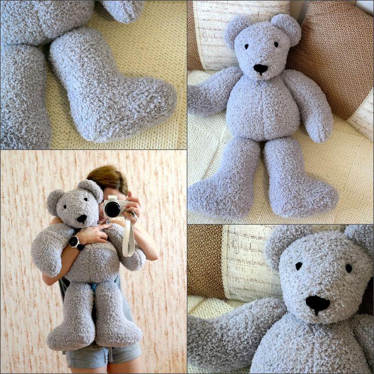 Вязаный медведь. Пряжа vita fancy plush. #bear #teddybear #вязаныймедведь #вязаныймишка