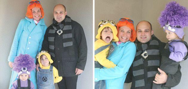 Disfraces fáciles para toda la familia: Gru y los Minions #Carnaval #DIY