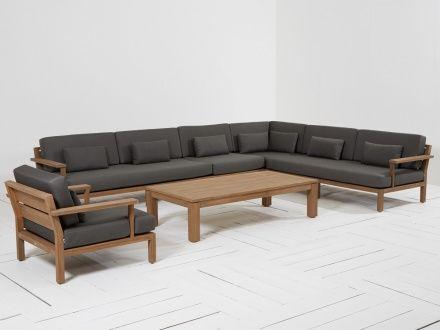 Fresh Gartenm bel Schwarz Rattanm bel Polyrattan Lounge Gartensofa SANO