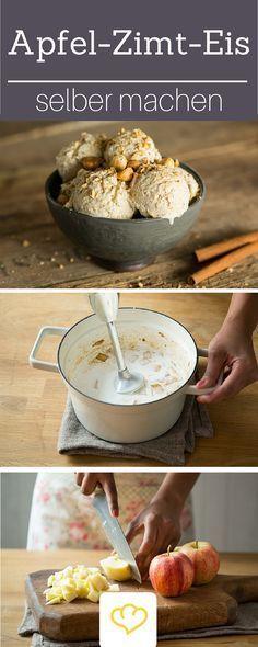 Apfel-Zimt-Eis - dieses Winter-Eisrezept musst du probieren!