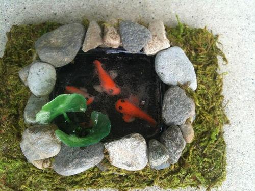 17 best images about miniature ponds on pinterest for Clay fish pond