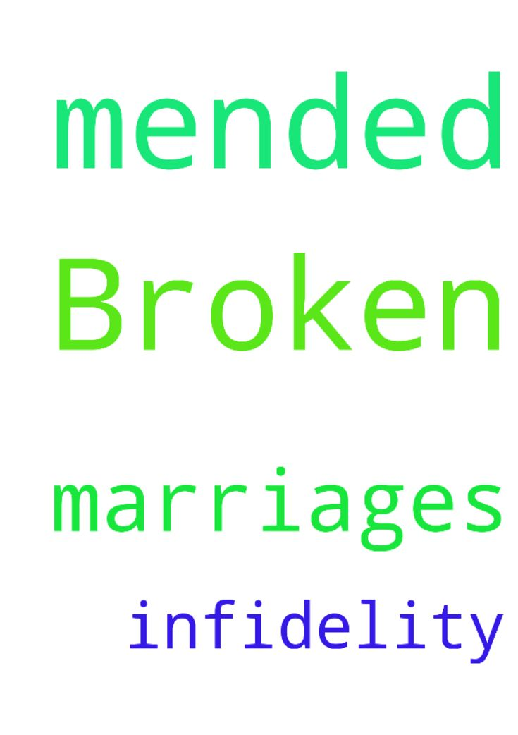 Broken marriages be mended -  Broken marriages amp; infidelity be mended  Posted at: https://prayerrequest.com/t/oqk #pray #prayer #request #prayerrequest