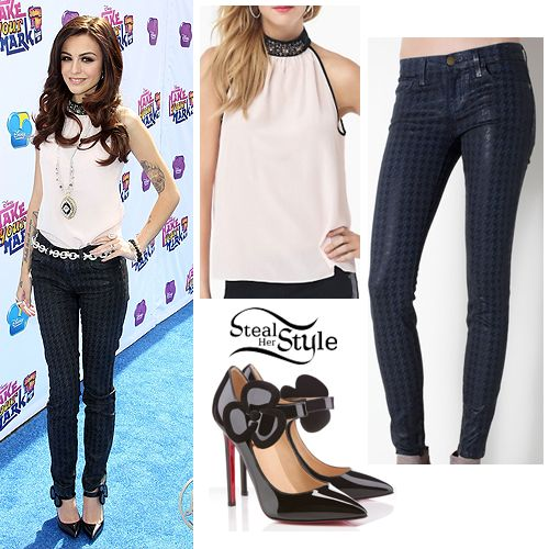 Steal Her Style: Cher Lloyd: Houndstooth Jeans Outfit
