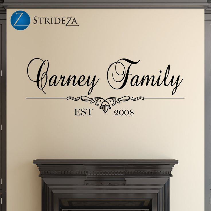 Family name decal, family name wall decal, family name sign, family established sign, family established wall decal, D00098. by Strideza on Etsy https://www.etsy.com/listing/206675410/family-name-decal-family-name-wall-decal