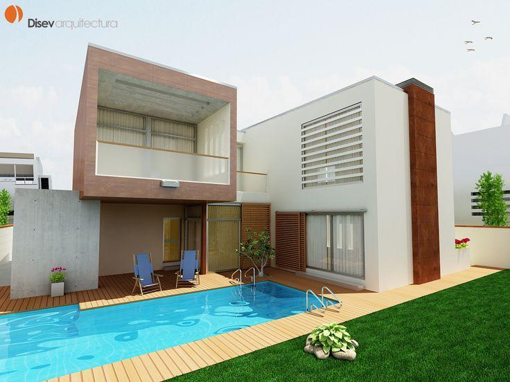 #Edificios #Moderno #Balcon #Patio #Piscina #Dibujos #Plantas #Ventanas #Tumbona #Fachada #Vidrio