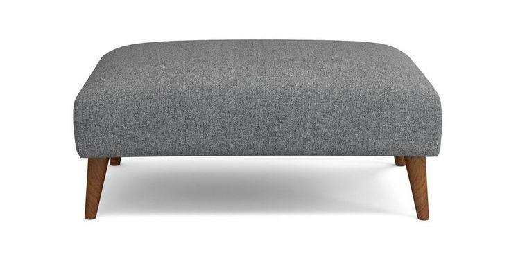 Zinc Plain Large Footstool  | DFS