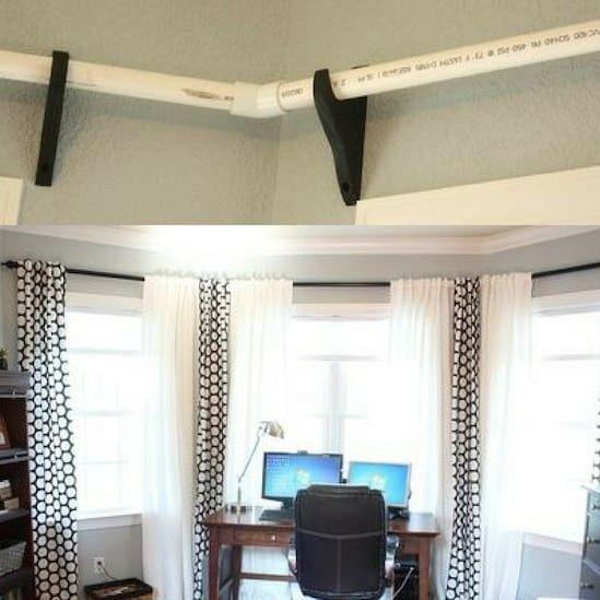 the 25 best bay window curtain rod ideas on pinterest corner curtain rod corner window curtains and diy curtains