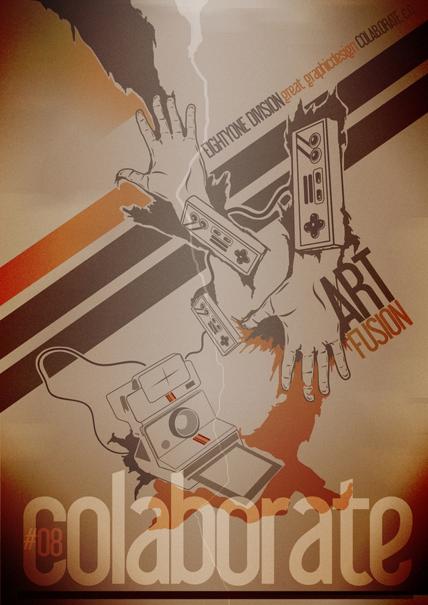 COLAB.orate ART-FUSION poster by Grzegorz Rauch, via Behance