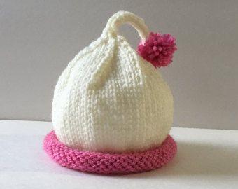 sombrero de bebé hecha a mano de 3 a 6 meses