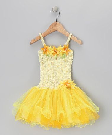 Take a look at this Yellow Flora Dress - Toddler & Girls by Fairy Dreams on #zulily today!http://www.zulily.com/invite/afreitas250