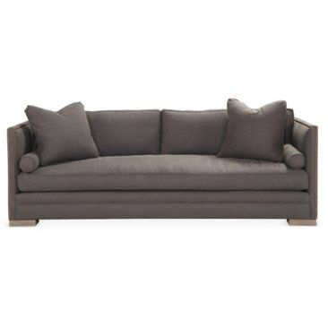 "Check out this item at One Kings Lane! Dunsmier 94"" Tailored Sofa, Charcoal"