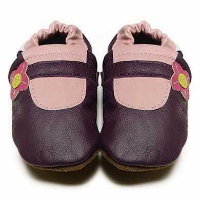 Purple Mary Janes - Soft Sole Baby Shoes I Fox & Frog I FREE SHIPPING Australia Wide