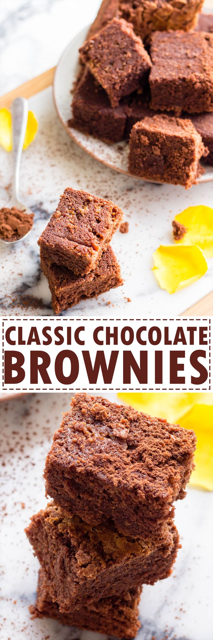 Classic gooey chocolate brownies recipe. Tested over and over again, absolutely fail proof and easy to do class chocolate brownies recipe.